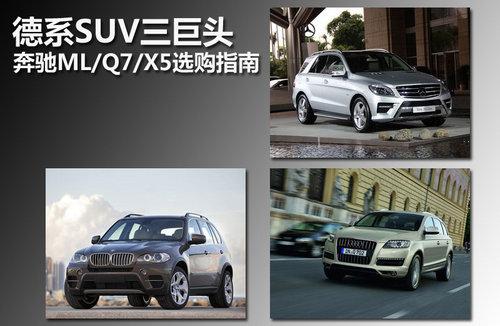 德系SUV三巨头 奔驰ML/Q7/X5选购指南