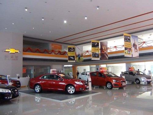 雪佛兰品牌的最新标准,高规格建造的4s店--标准化的展厅建造和高清图片