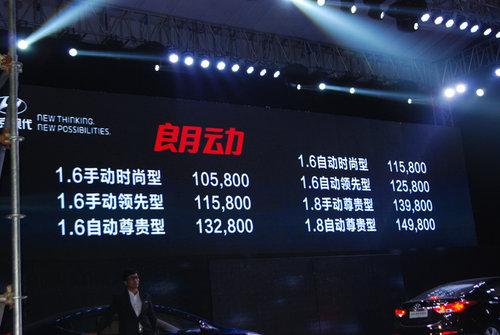 全球新锐朗动上市 售价10.58-14.98万元