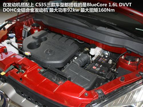 首推1.6L手动豪华 长安CS35全系导购