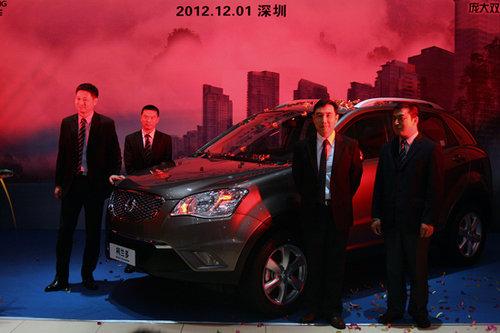 双龙柯兰多SUV汽油版 深圳地区激昂上市