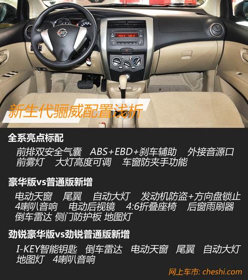 8款车型8.58万元起 新生代骊威新车学堂