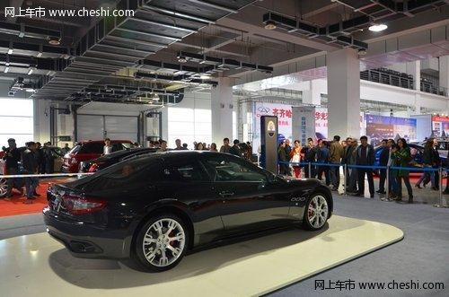 本次展会最昂贵的、也是上镜率最高的--玛莎拉蒂gt跑车高清图片