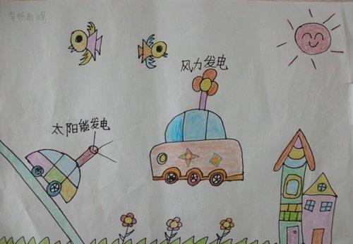 """""""未来的汽车生活--太阳能、风力发电汽车""""-梦想2013首届雷诺儿童"""