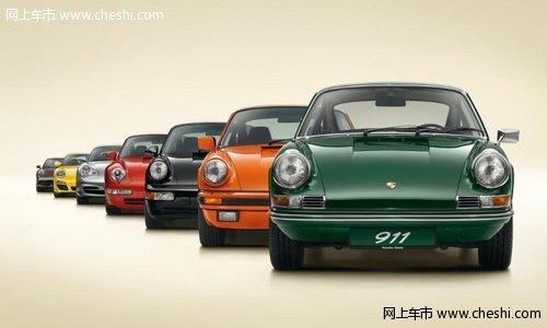 保时捷在巴黎车展上发布了911turbo,这是世界上第一款配备废气涡轮图片