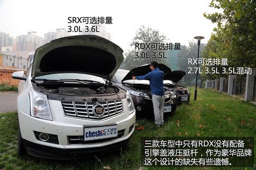 抉择之X计划 SRX/RDX/RX豪华SUV全面对比