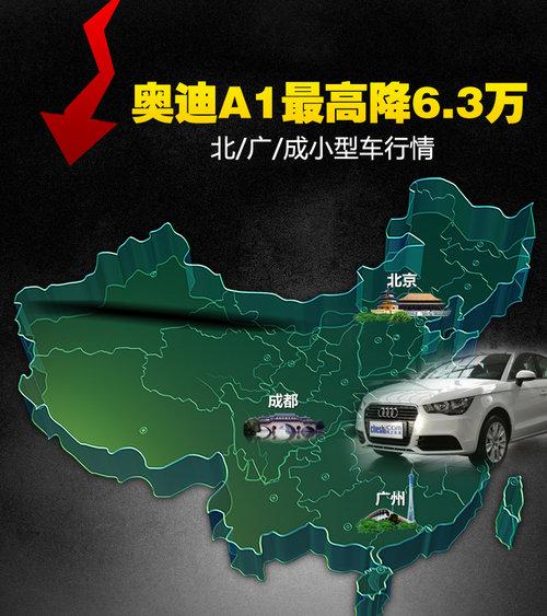 奥迪A1最高降6.3万 北/广/成小型车行情
