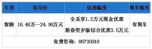 泉州起亚智跑新春送礼  最高享3.5万元