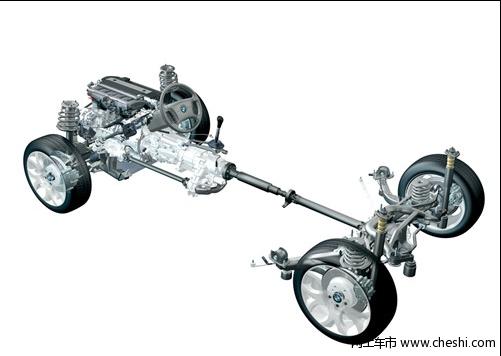 奔驰glk300对宝马x3四驱系统高清图片