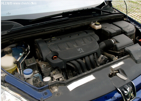 标志307发动机盖怎么打开图-车友谈标致307三厢2.0发动机