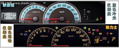 另外两款车型的仪表盘也有着明显的区别.