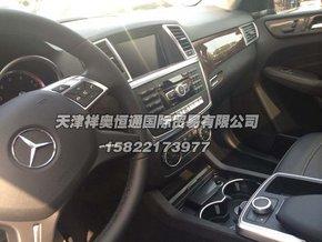新款奔驰ml350内饰中控高清图片