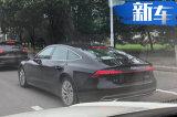 奥迪新A7实车上路 比保时捷panamera美 售价50万