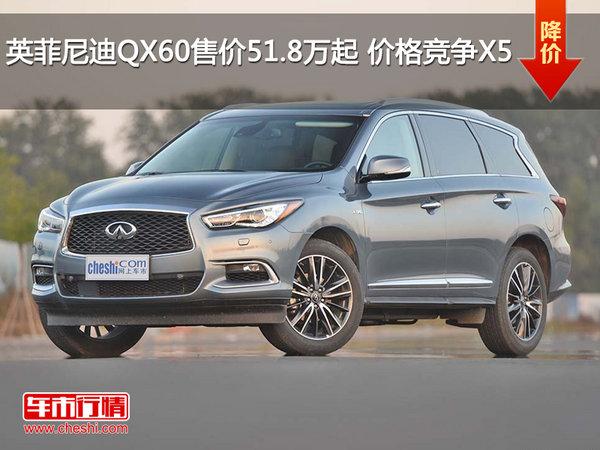 英菲尼迪QX60售价51.8万起 价格竞争X5-图1