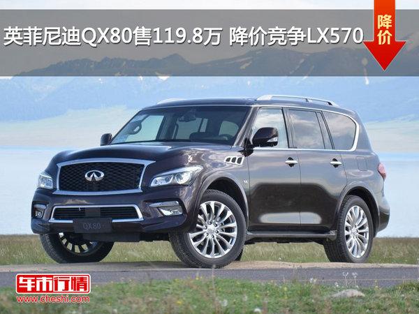 英菲尼迪QX80售价119.8万 降价竞争LX570-图1