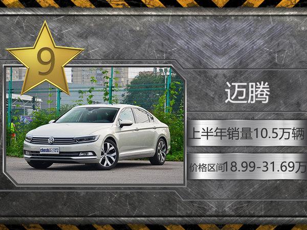 上半年国内十大轿车销量放榜 大众品牌超半数-图10