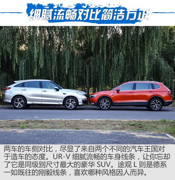 大五座豪华SUV对话  UR-V对比测试途观L-图6