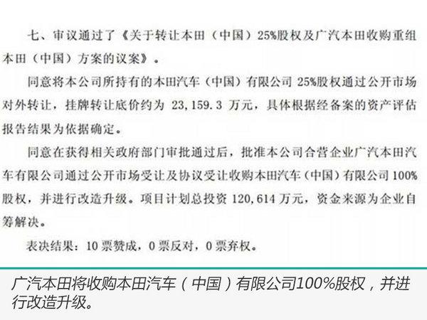 东风出售本田中国全部股份 广汽本田近1亿元收购-图3