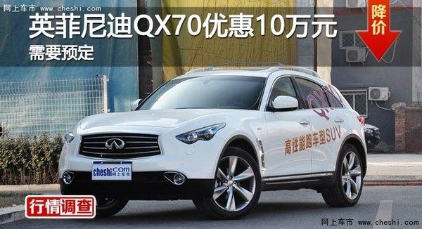 英菲尼迪QX70优惠10万 降价竞沃尔沃XC90-图1