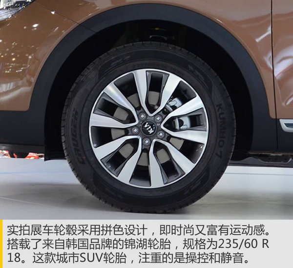 对标锐界汉兰达 广州车展实拍起亚KX7-图8