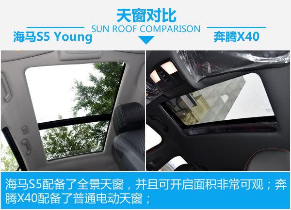 谁更年轻运动?海马S5 Young对比奔腾X40-图5