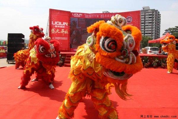 醒狮表演《群狮旺场》-丽车行千里群贤谱华章 惠州丽群盛大开业