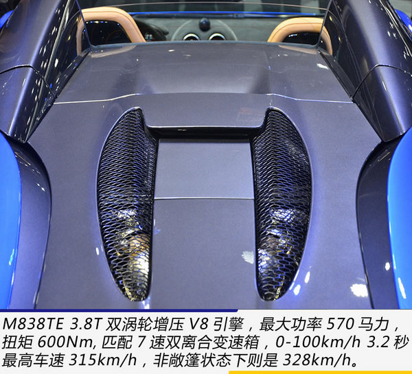 最便宜迈凯伦敞篷超跑 广州车展实拍570S Spider-图9