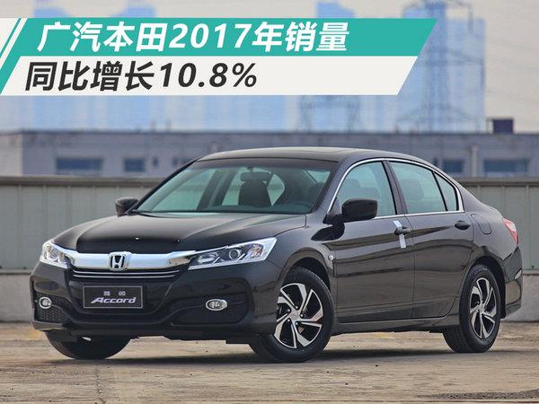 广汽本田全年总销同比增10.8% 超预定目标近6%-图1