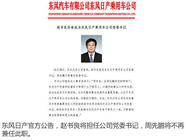 東風日產人事調整 趙書良升任黨委書記-圖2