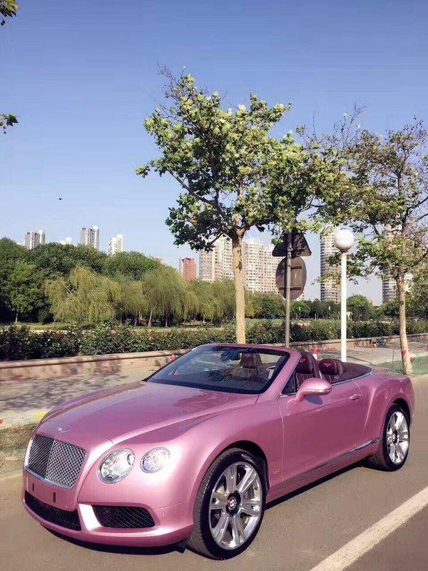 浪漫系宾利GTC敞篷超跑 限量粉色超耀眼-图7