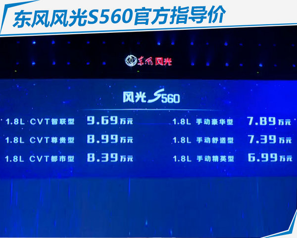 东风风光S560全新SUV上市 售6.99-9.69万元-图2