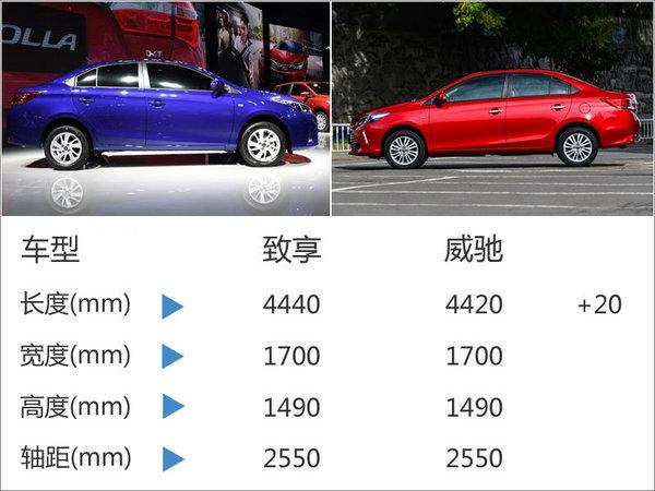 广汽丰田致享将上市 搭1.5L/尺寸超瑞纳-图2