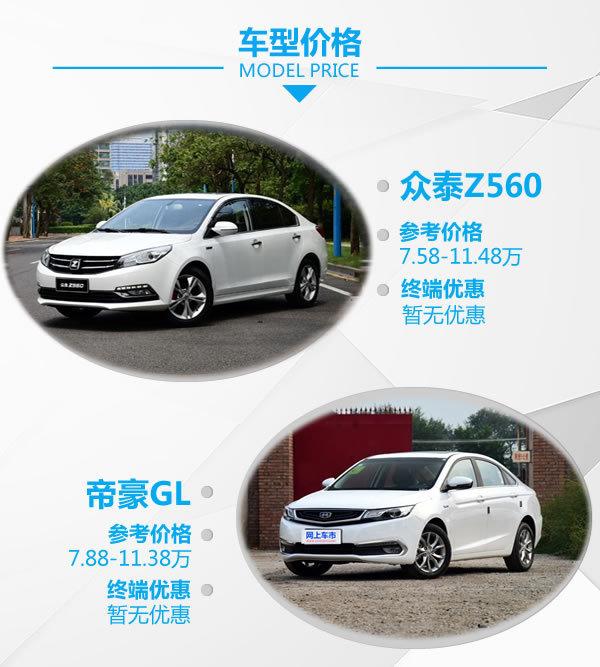 30万的配置只卖10万 众泰Z560对帝豪GL-图2