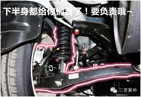 作为一款运动型轿车,翼神的底盘悬挂结构源自evo,采用了前麦弗逊式