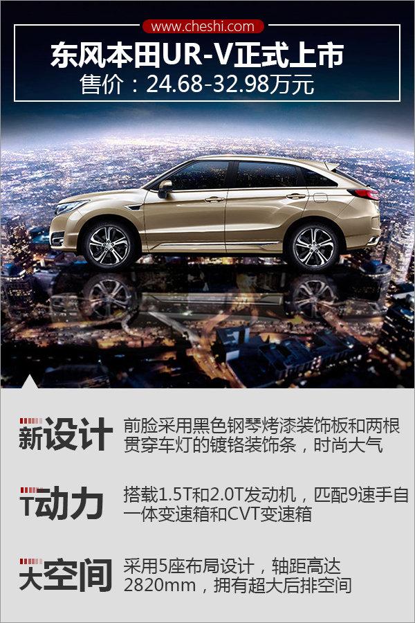东风本田UR-V正式上市 24.68-32.98万元-图1
