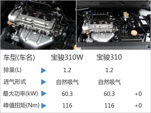 宝骏310W搭载1.2L发动机 综合油耗6.2L-图3