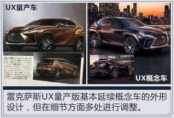 雷克萨斯新紧凑型SUV外形首曝 竞争宝马X1-图2