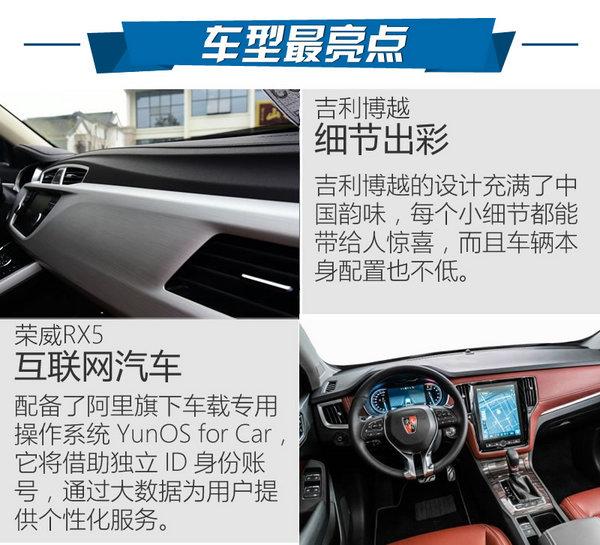 谁才是中国最火SUV 荣威RX5对比吉利博越高清图片
