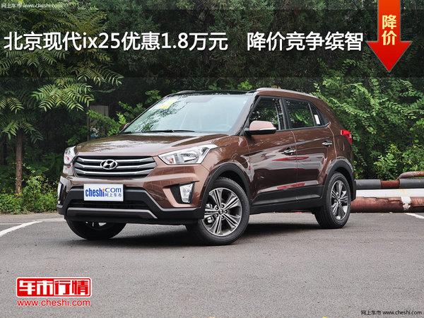 北京现代ix25优惠1.8万元  降价竞争缤智-图1