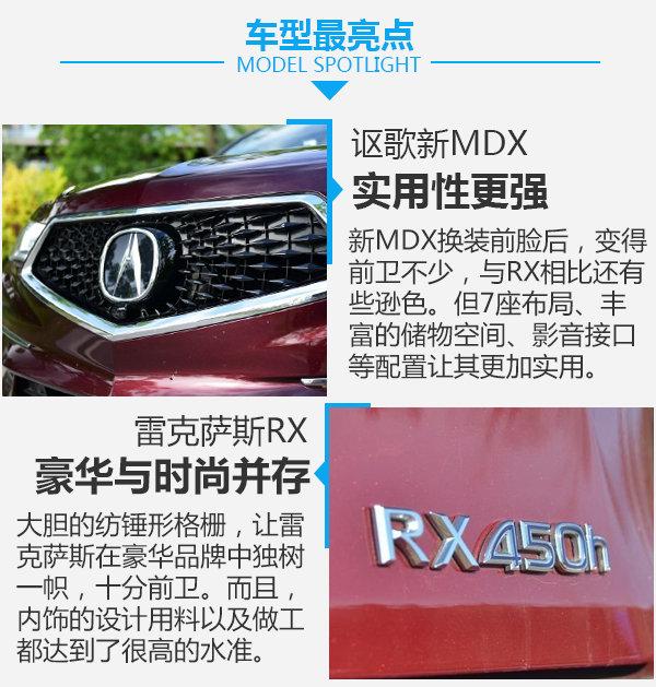 豪华与科技的融合 讴歌新MDX对雷克萨斯RX-图8