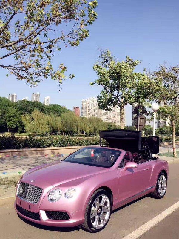 宾利GTC敞篷超跑 全球限量版粉色更浪漫-图4