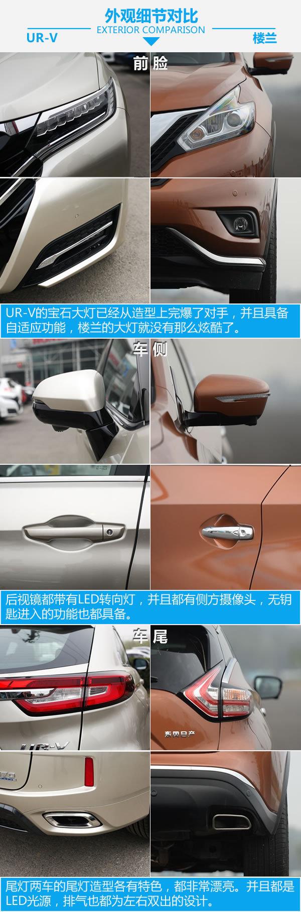 舒适对比舒适 东风本田UR-V对比日产楼兰-图5