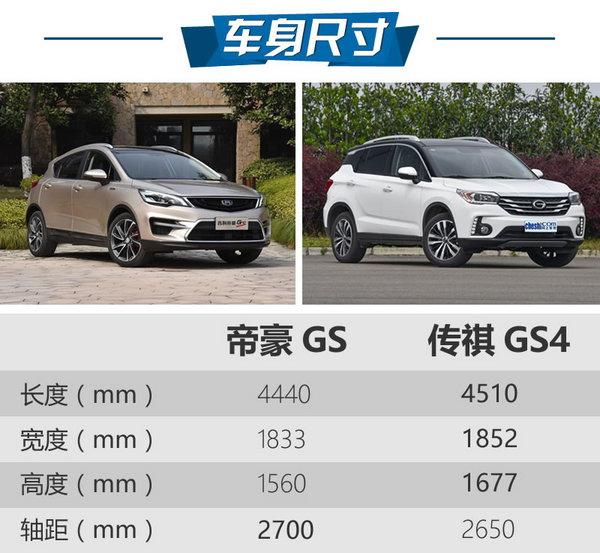 """以小""""搏""""大 吉利帝豪GS对比广汽传祺GS4-图3"""