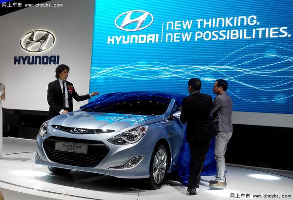 """据悉,这款原装进口索纳塔混合动力是现代汽车环保品牌""""blue dri"""