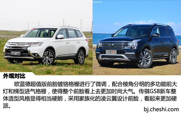 2047 广汽三菱欧蓝德 对比 广汽传祺GS8-图5