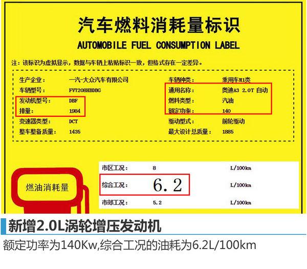 奥迪A3将改款新增运动版搭载2.0T发动机-图2