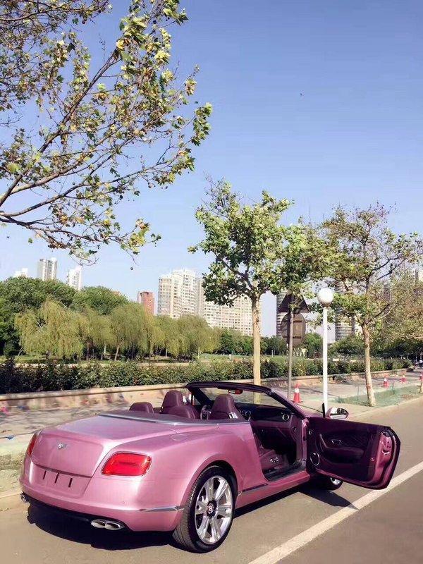 浪漫系宾利GTC敞篷超跑 限量粉色超耀眼-图8