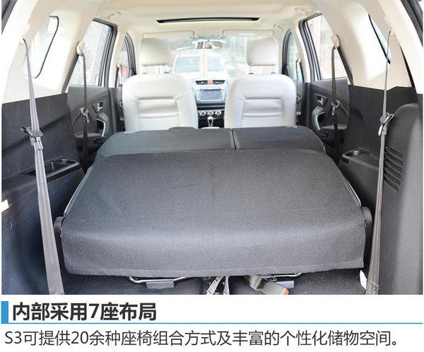 北汽幻速7座SUV-S3今日上市 5.38万元起-图4