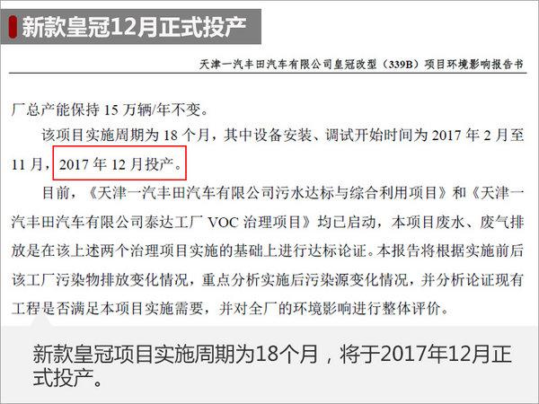 一汽丰田新皇冠撤销2.5L车型 装备晋级-图1