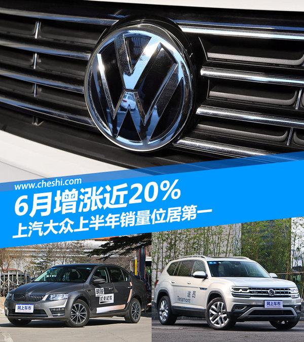 上汽大众上半年销量位居第一 6月增长近20%-图1
